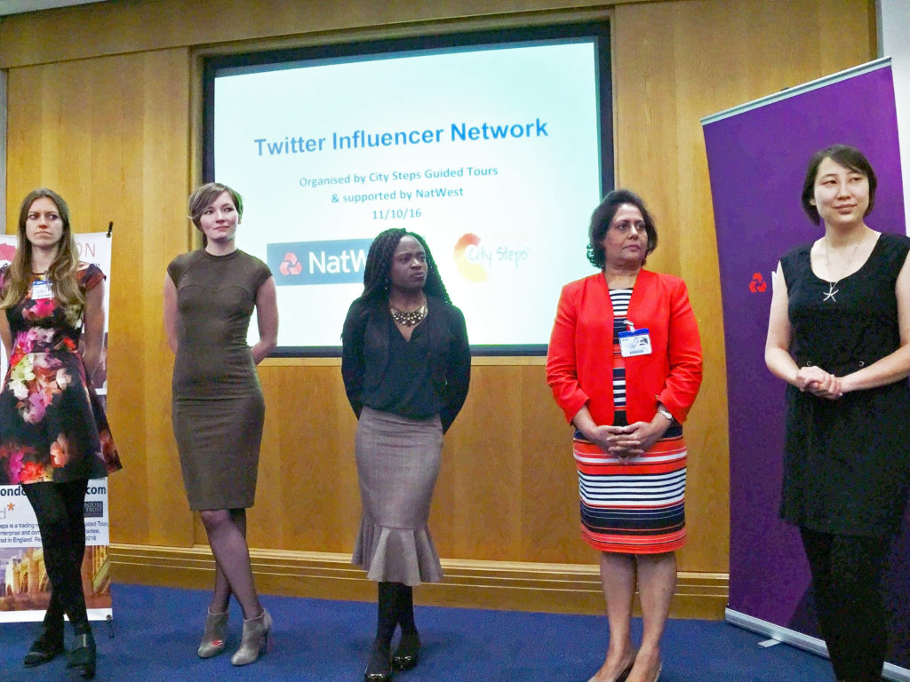 Twitter Influencer Event Natwest London with Speaker Kaitlin Zhang