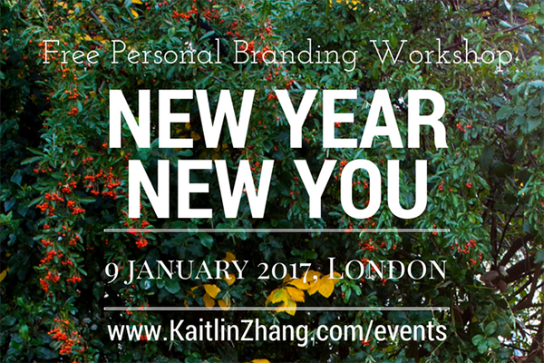 New Year New You 2017 Kaitlin Zhang Events Personal Branding
