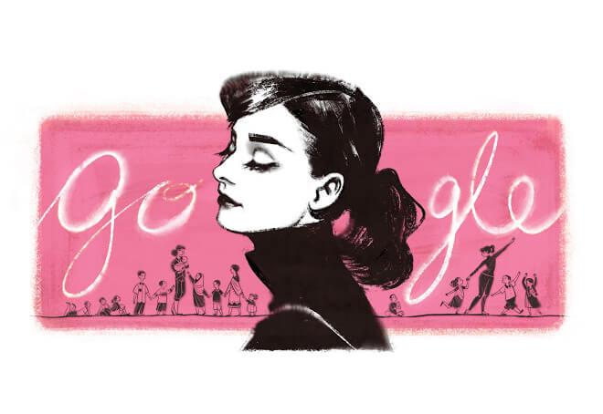 Google Doodle Pink