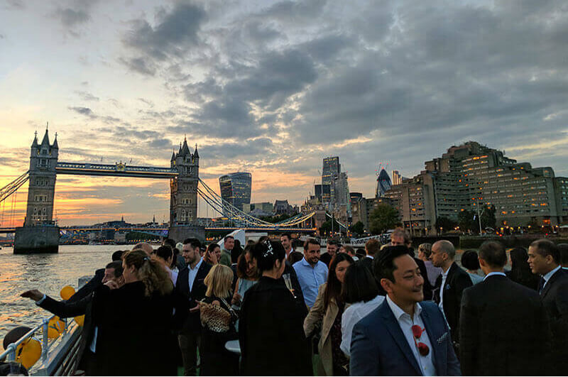 Kaitlin Zhang attends East Meets West UK China Summer Boat Party