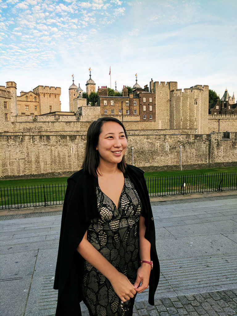 Kaitlin Zhang at the Tower of London