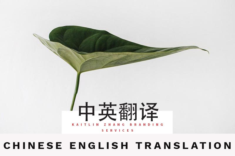 中英翻译 Chinese english translation Kaitlin Zhang Branding Service