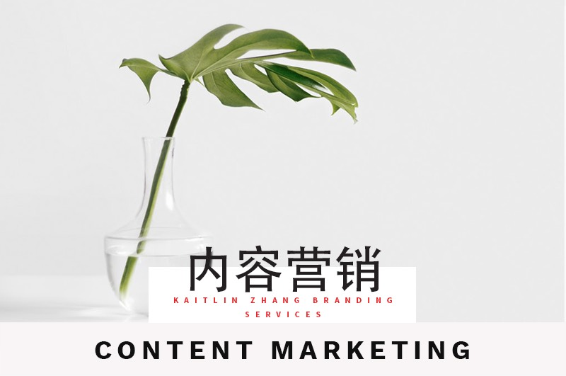内容营销 content marketing Kaitlin Zhang Branding Service