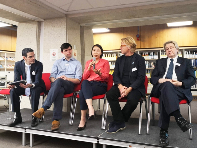Speakers at the London FinTech Investment Conference 2018 Karl Rego, William Orde, Kaitlin Zhang, Niall Barton and Ian Maddison