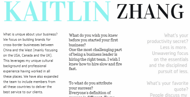 kaitlin zhang digital business woman emagazine interview