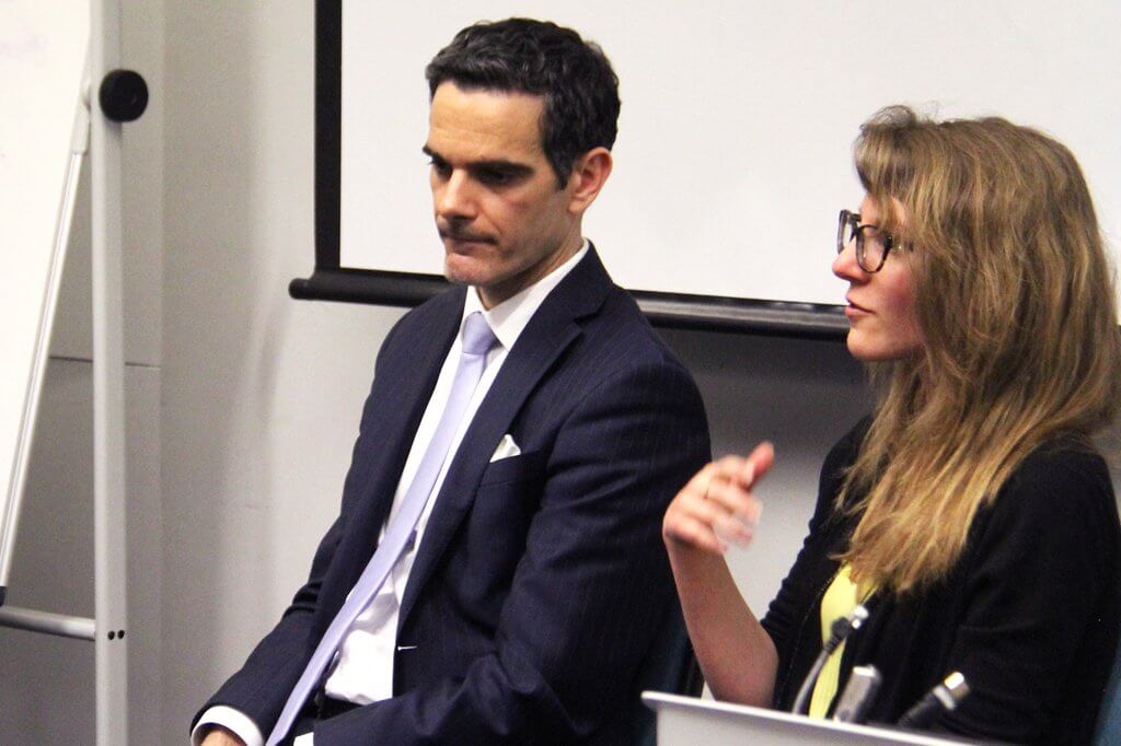 guest seakers at london south bank university event on tech careers