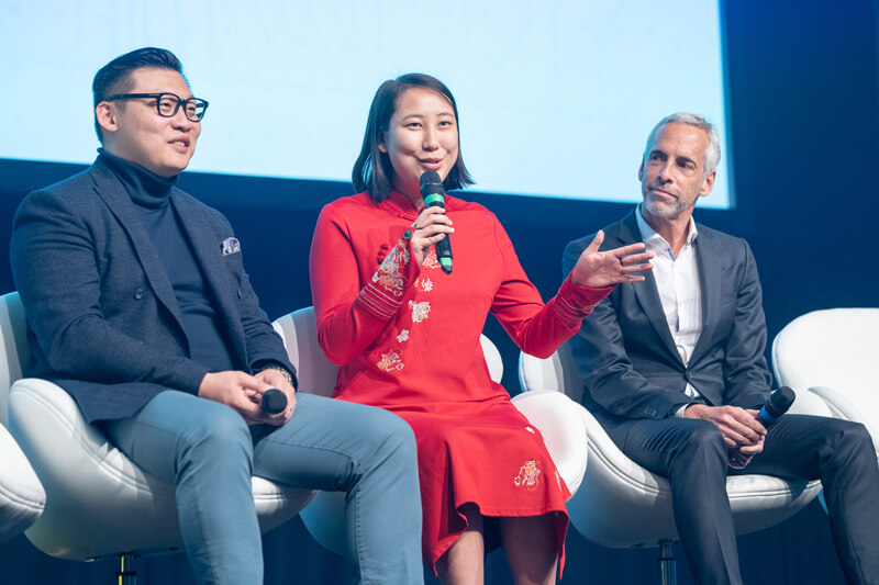 Kaitlin Zhang speaking at the at the Tech London Advocates Investor Showcase 2.0